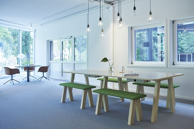 EFG Collaborate project table with benches. #europeanfurnituregroup #efg collaborate #Scandinaviandesign #interiordesign #officeinterior #officedesign #interiors #furniture #office #workplace #inspiration #design #interiorarchitecture #table #canteen #chairs #inredning #kontor #inredningsdesign #interiör #arbetsplats #mötesplats #möbler #kontorsmöbler