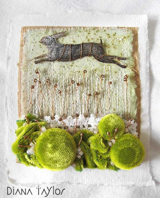 Velvet Moth Studio: Spring Tea Bag Embroideries