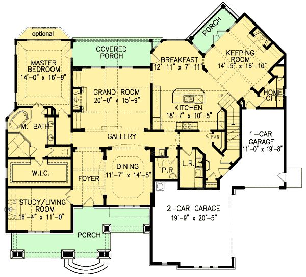 293 best images about home design blueprints on pinterest for House plans with keeping rooms