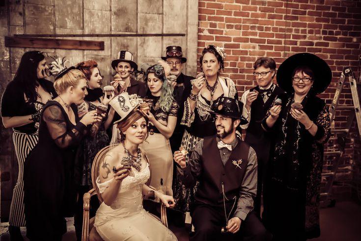 Steampunk Wedding Photo By Jewel Photo