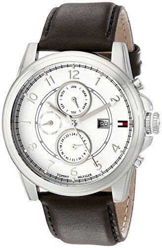 Tommy Hilfiger  Men's 1710294 Stainless Steel Watch with Brown Leather Band Tommy Hilfiger http://www.amazon.com/dp/B005OT7MBM/ref=cm_sw_r_pi_dp_MxrDvb1FE6FA6
