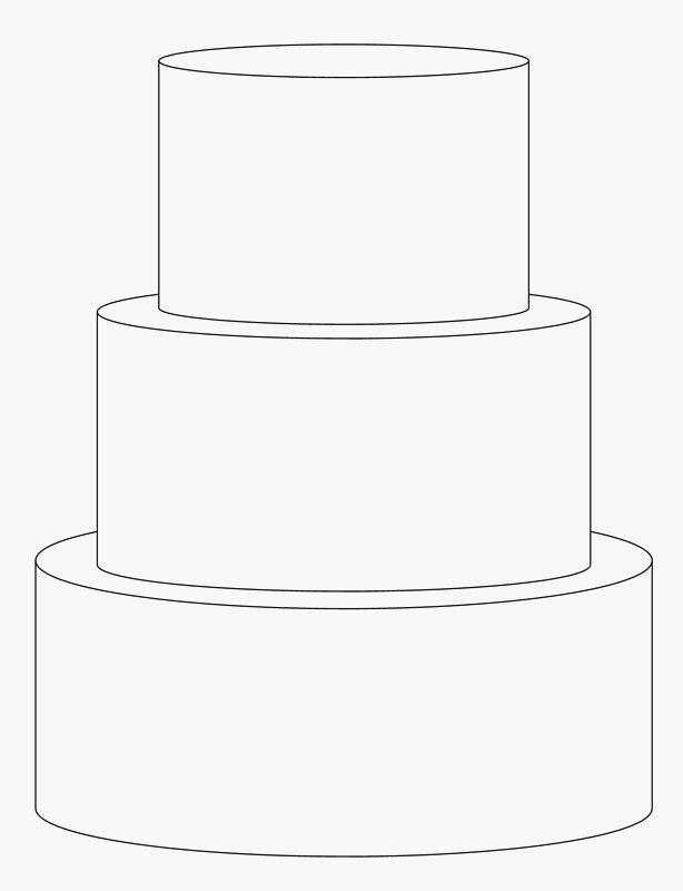 3 Tier Cake Template