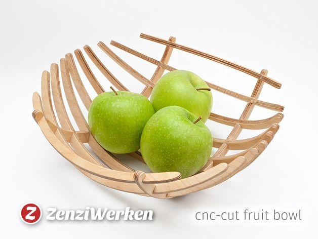 "Fruit Bowl ""Sphere"" cnc/laser by ZenziWerken - Thingiverse"