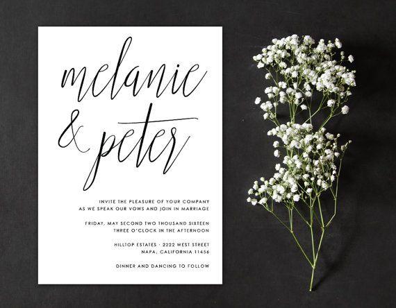 25+ best handwritten wedding invitations ideas on pinterest,