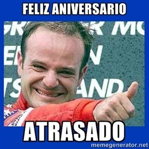 Feliz aniversario Atrasado   Rubinho Atrasado