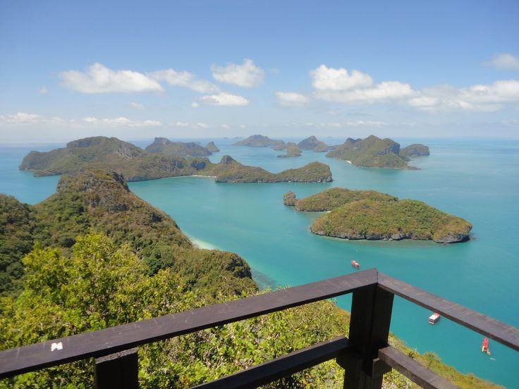 Ang Thong Marine Park viewpoint, Koh Samui, Thailand. Photo: Pat Hinsley