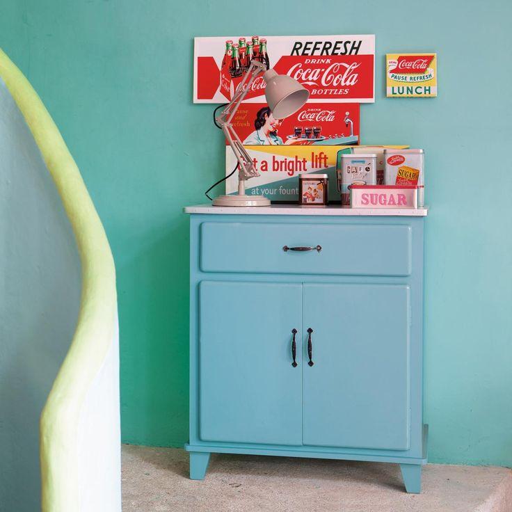 wooden vintage kitchen sideboard in blue w cm kitchen maisons du monde with bon plan maison du monde. Black Bedroom Furniture Sets. Home Design Ideas
