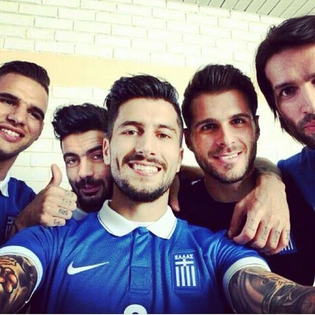 Farewell to the beautiful and talented Greek soccer players: Panagiotis Kone and Orestis Karnezis.  See you in the next world cup!