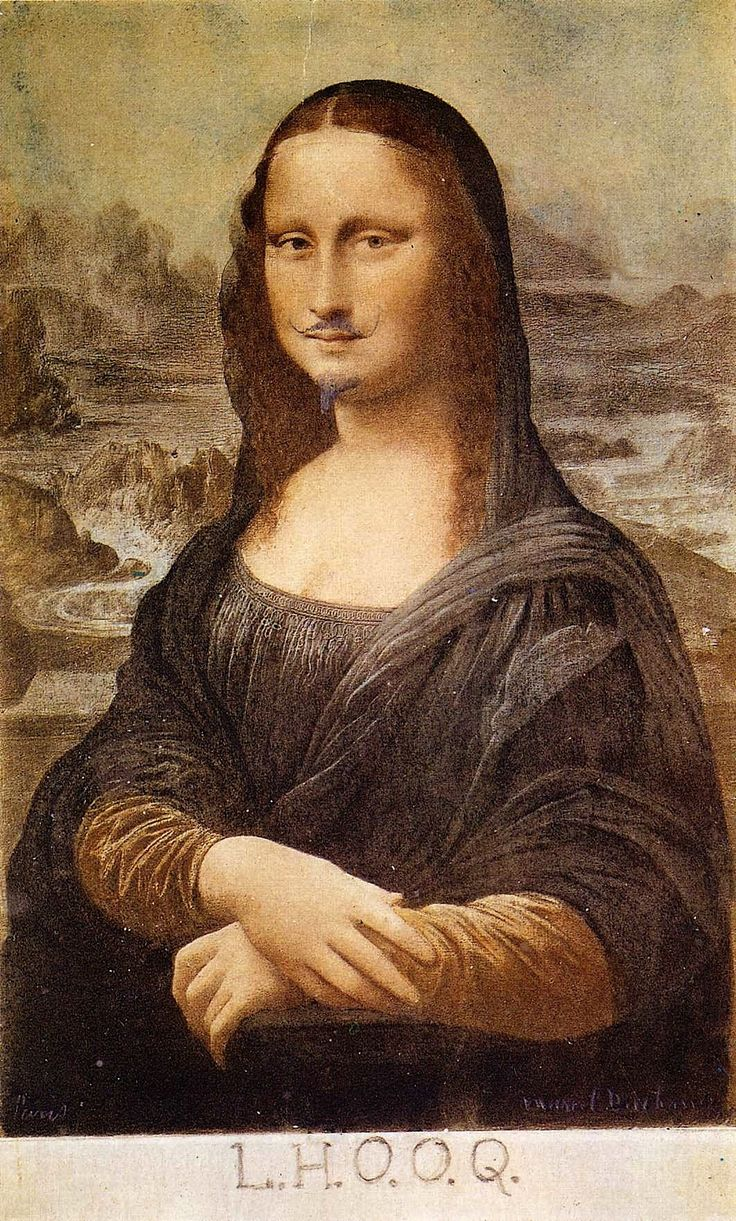 Marcel Duchamp L H O O Q Mona Lisa with Moustache oil on canvas 1919