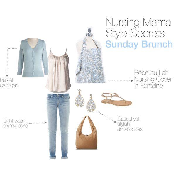 """Nursing Mama Style Secrets: Sunday Brunch"" Nursing Cover by Bebe au Lait"