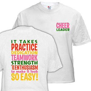 It Takes Practice T-Shirt by Cheerleading Company