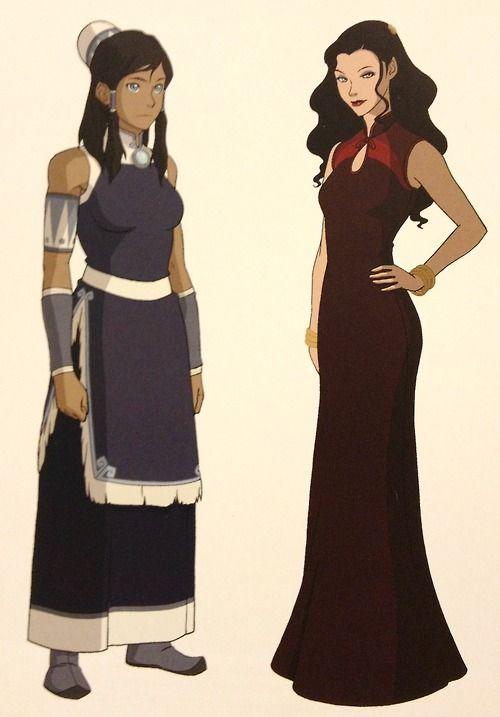 Korra and asami in formal dress cosplay pinterest for Last season wedding dresses