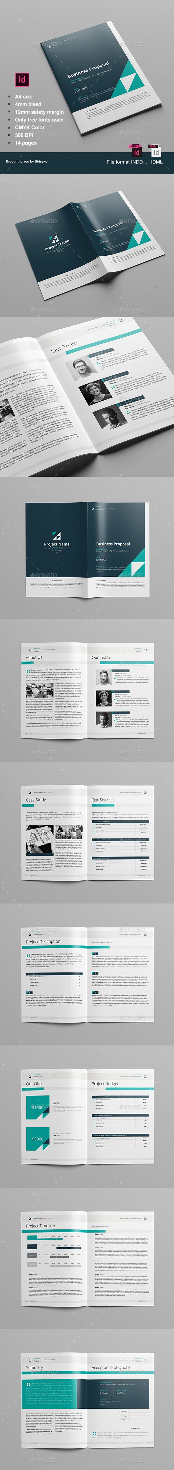 Proposal Template Preview 36 best Best Proposal