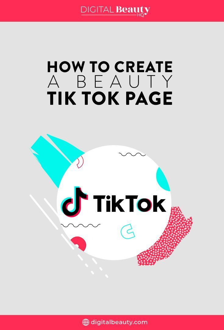 New This Week How To Create A Beauty Tik Tok Page Digital Beauty How To Become Popular Social Media Branding Tik Tok