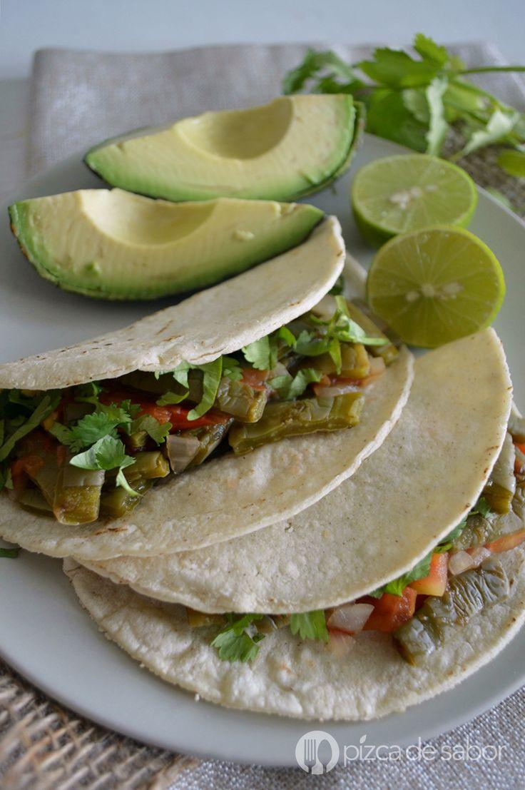 Tacos de nopal  (receta económica, fácil y saludable) www.pizcadesabor.com
