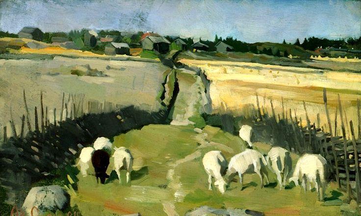 Gallen-Kallela, Akseli Landscape with Sheep, 1884