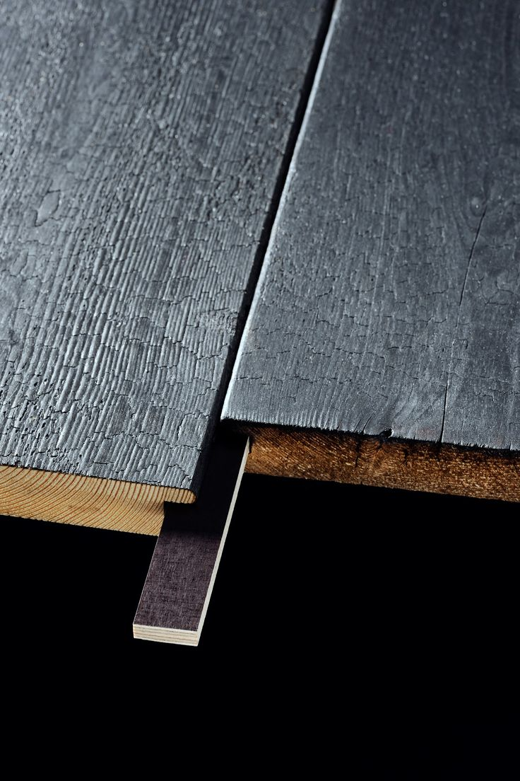 Charred Larch.  So beautiful and practical.  From Russwood in Scotland. Sigh