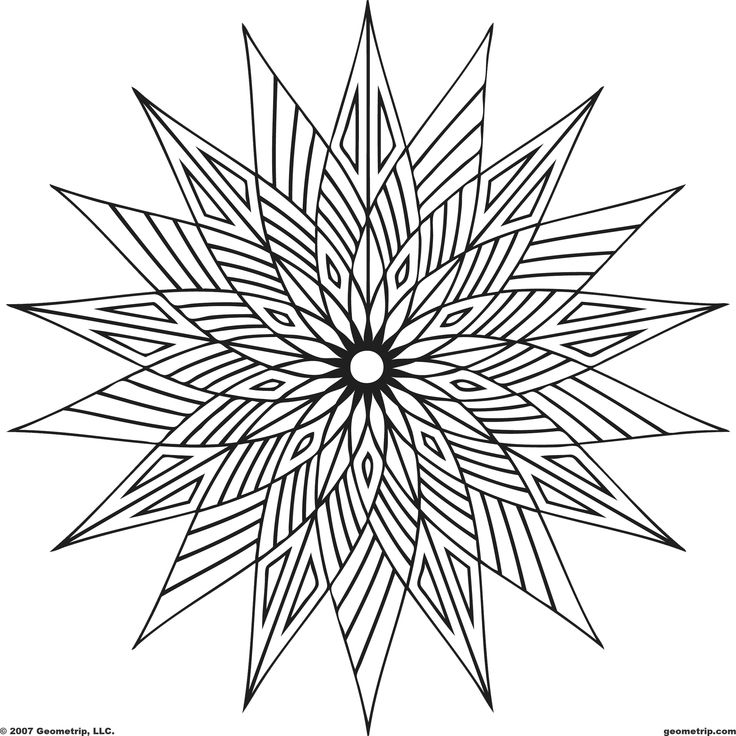 basic geometric shapes coloring pages - photo#45