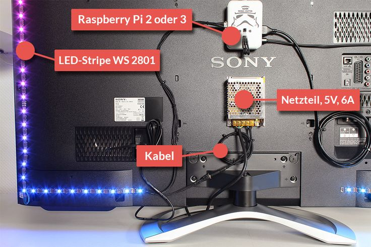 Atemberaubendes Ambilight am eigenen TV selber bauen – Raspberry Pi 3 Tutorial…