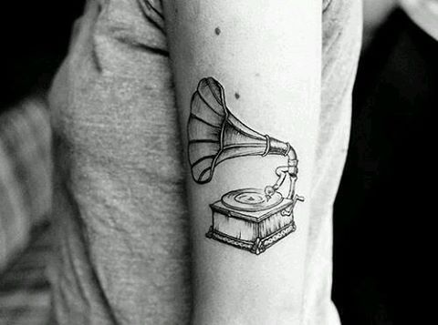 Rad. Phonograph tattoo.