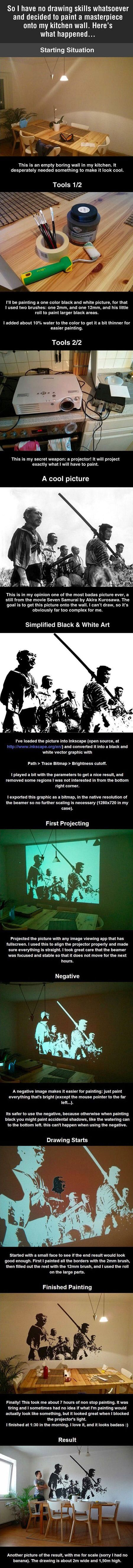 How to paint a masterpiece. - 9GAG #Drawingtips