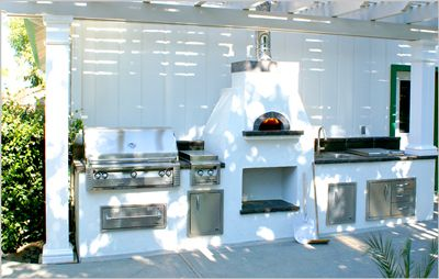 I wonder if it's possible to find a place that's not ridiculously expensive with an outdoor kitchen, instead of an indoor one. It would have to be covered. Or if there is a way to take out a kitchen from a home, and build your own kitchen outside