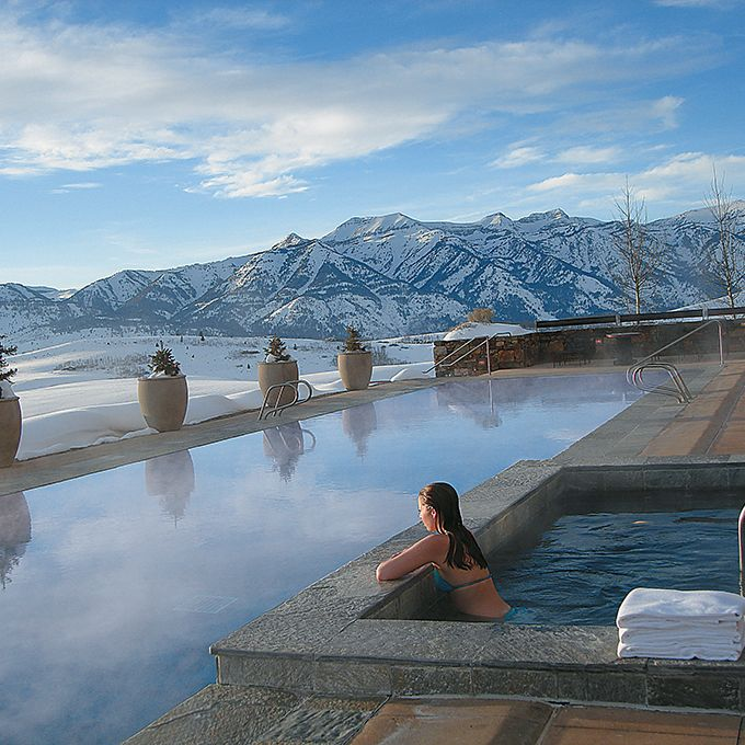 Brides.com: . Amangani in Jackson Hole, Wyoming. Sure, its frost-colored tiles…