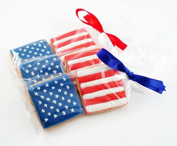 Decorated Cookies  Patriotic  Fourth of July  Flag by katieduran, $15.00