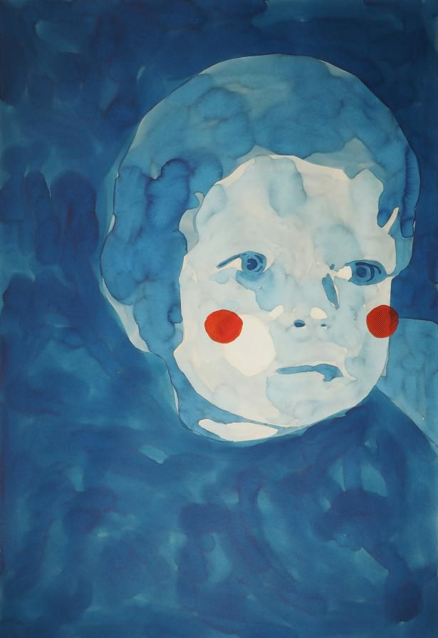 'blu' by Tania Marino http://www.premioceleste.it/opera/ido:390901/ … #painting #watercolor
