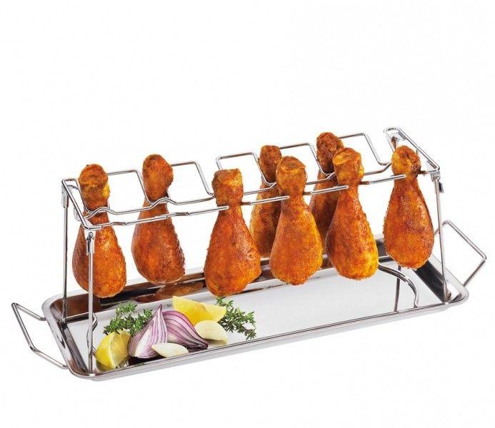 Ταψί με σχάρα για μπούτια κοτόπουλου ΒΒQ ανοξείδωτο KUCHENPROFI