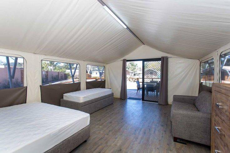 Safari Tent Internal at Shoal Bay Holiday Park
