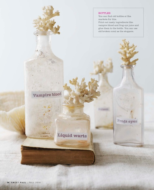 sea-inspired tops with apothecary jars