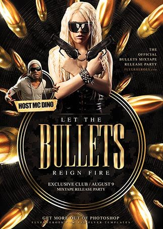 Free Bullets Club Flyer Template - Download Free PSD http://www.freepsdflyer.com/free-bullets-club-flyer-template/
