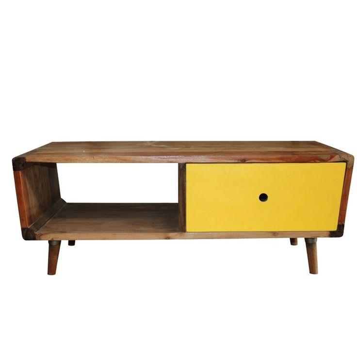 frederick retro coffee table yellow
