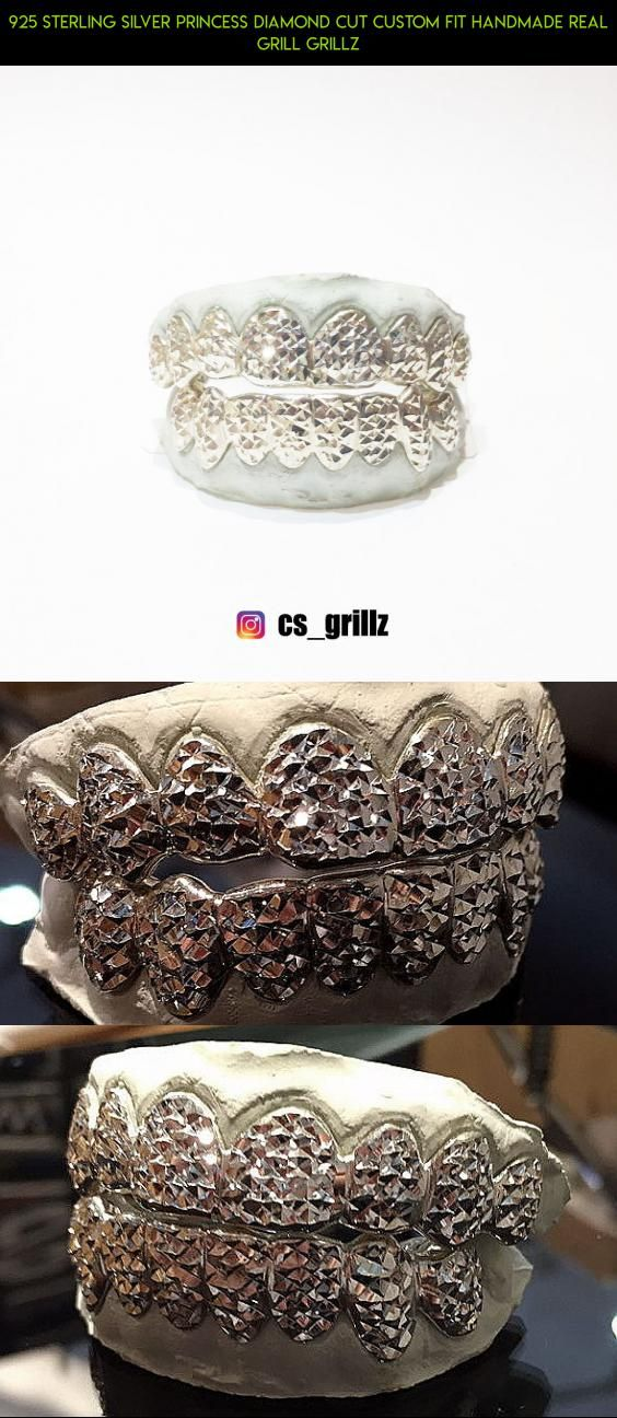925 STERLING SILVER PRINCESS DIAMOND CUT CUSTOM FIT HANDMADE REAL GRILL GRILLZ #teeth #parts #products #kit #shopping #plans #fpv #grills #camera #racing #drone #tech #gadgets #technology #diamond
