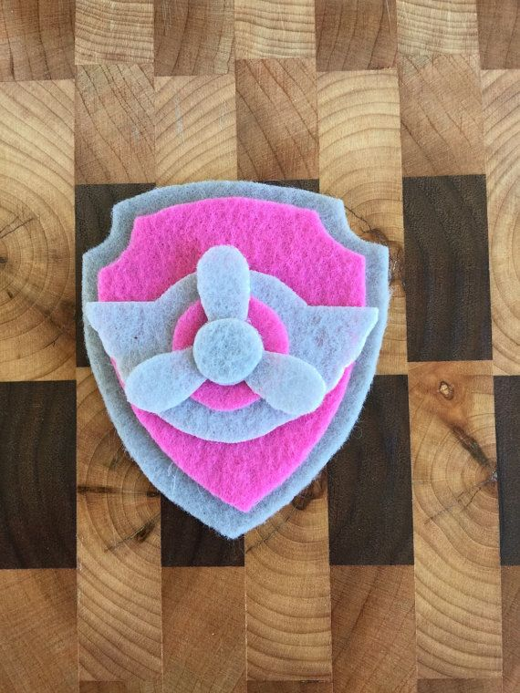 Paw Patrol chiot Skye Tag Pup Badge patte par SmoochieMamas