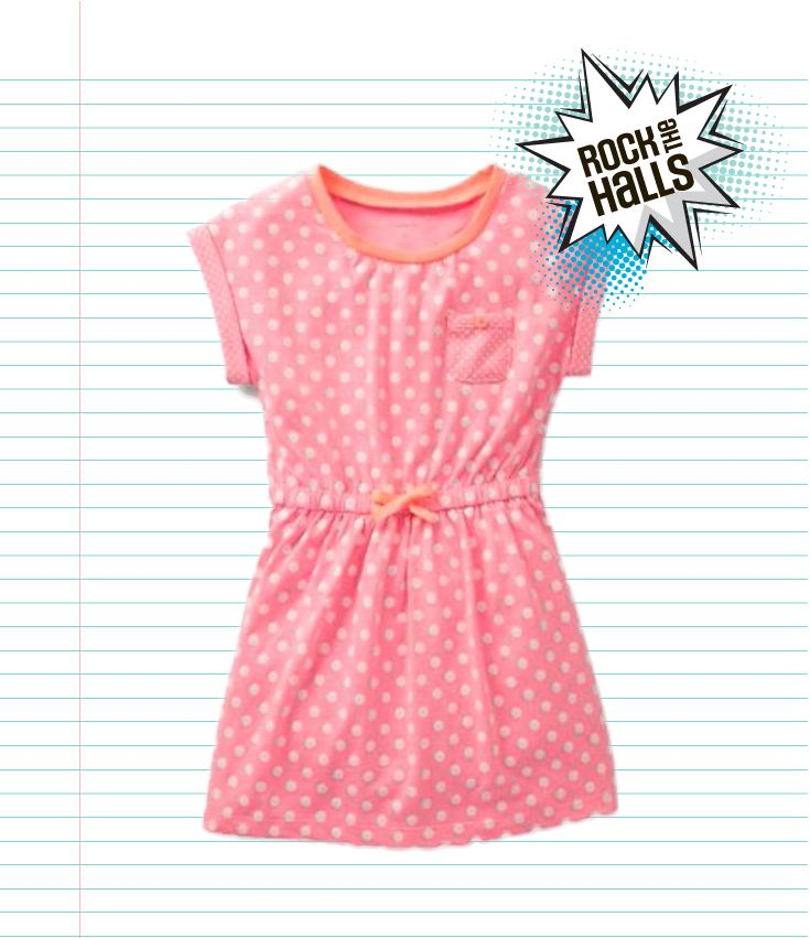 This comfortable polka-dot dress is a girly number your little princess will love wearing to school
