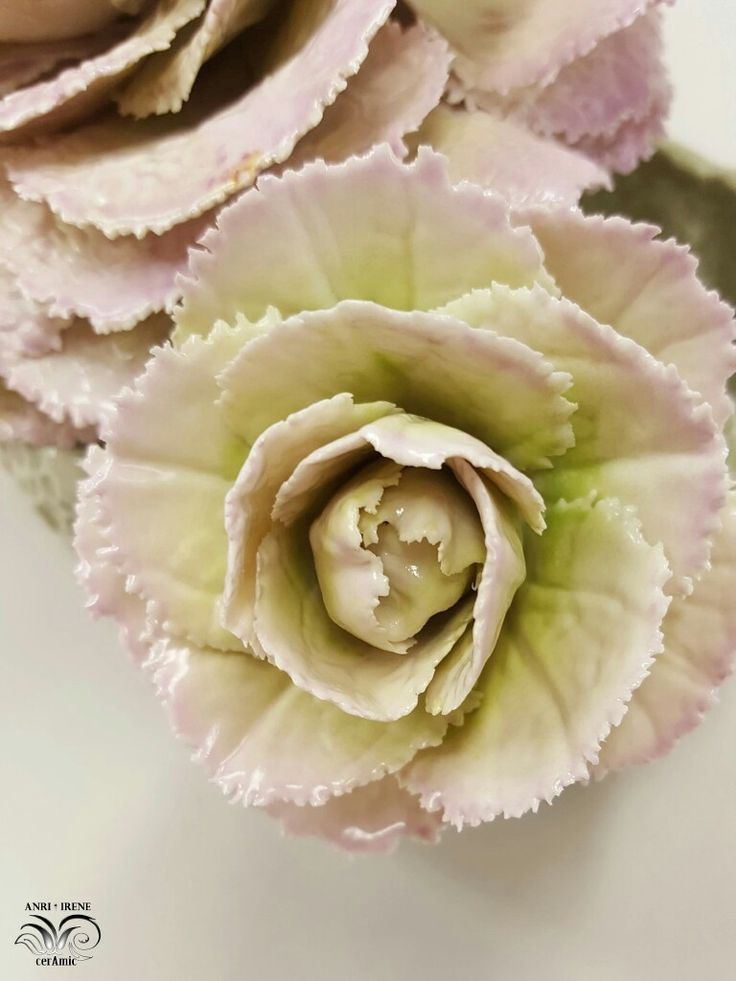 Ceramic lettuce, ceramic cabbage, ceramic flowers, ceramic floral