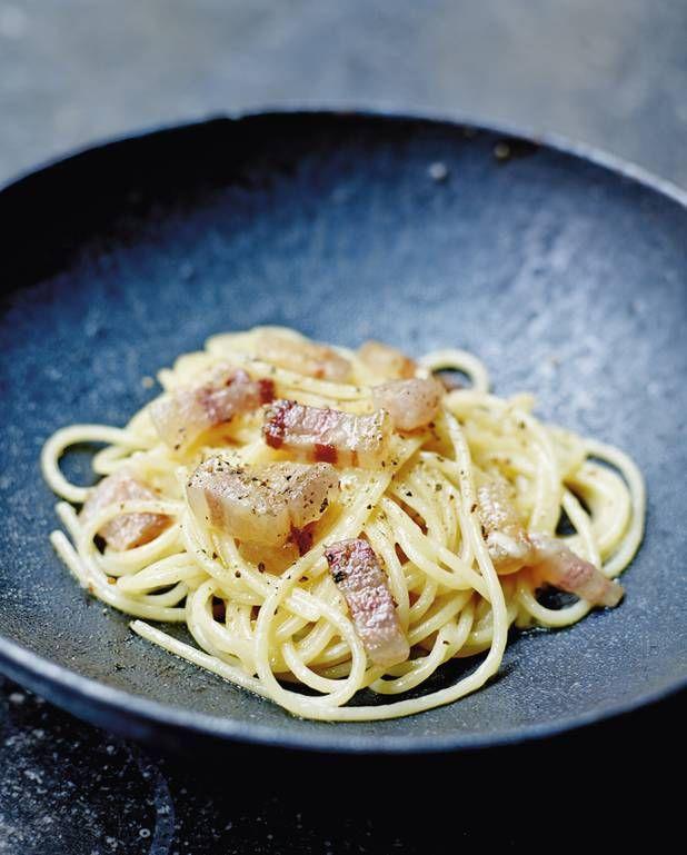 Spaghettis à la gricia pour 6 personnes - Recettes Elle à Table