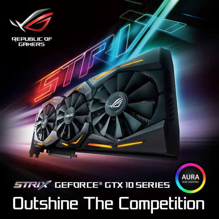 Time to shine with the new ASUS ROG Strix GeForce® GTX 1080 graphics card. Bring customizability to the next level with Aura Lighting!