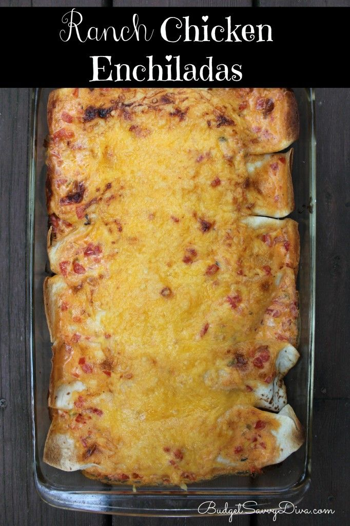 One of the best enchiladas recipes out there. Pretty much heaven in a 9x13 casserole dish