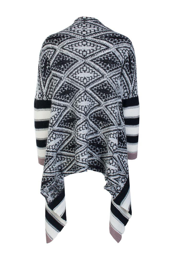 Черный Кардиган LIU JO - открытый жаккардовый кардиган с длинными рукавами в онлайн бутике по цене 14630 рублей, арт. W66194MA293Y - Elyts.ru