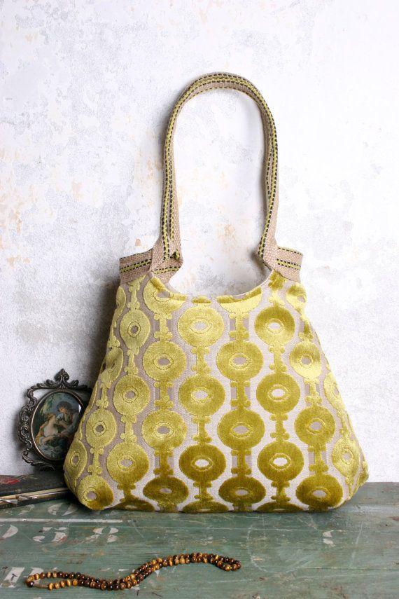 Lime yellow handbag by madebynanna on Etsy, $65.00