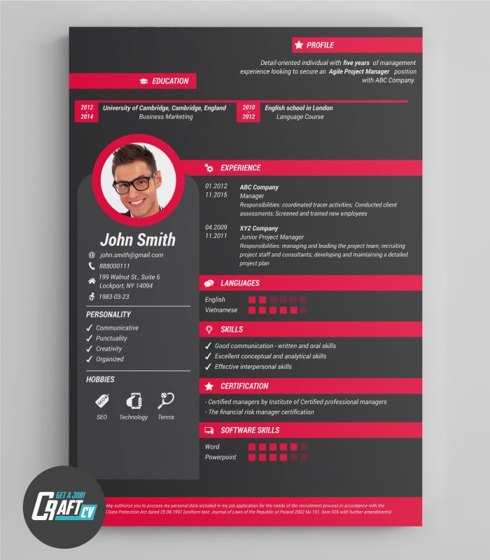 creative cv example original cv design resume template