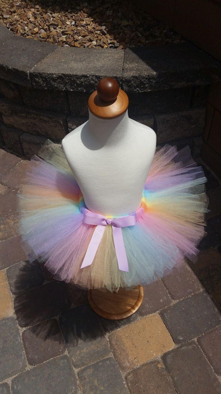 Pastel Light Rainbow Tutu by LovelyByLizP on Etsy https://www.etsy.com/listing/238358433/pastel-light-rainbow-tutu