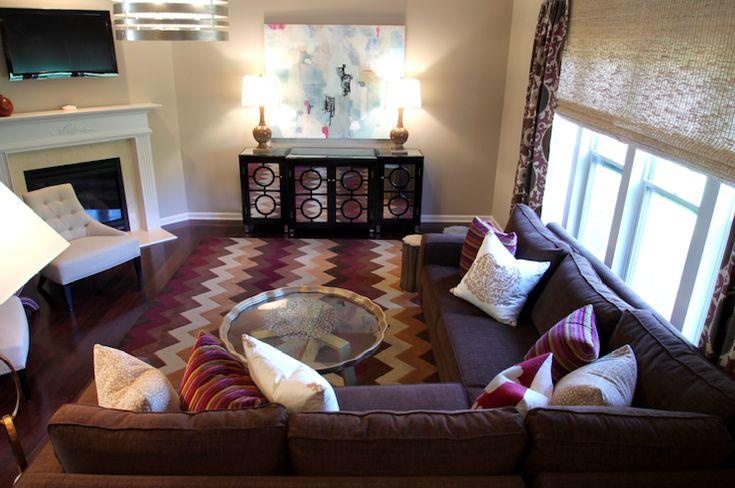 The 25 best transitional tv trays ideas on pinterest for Purple and brown living room ideas