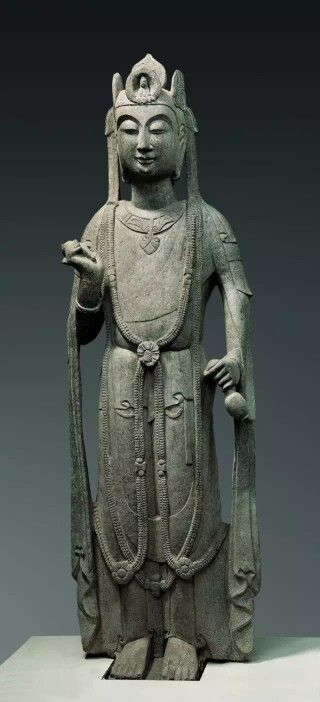 Stone Guanyin, Sui Dynasty. Collection of Gansu Provincial Museum, China