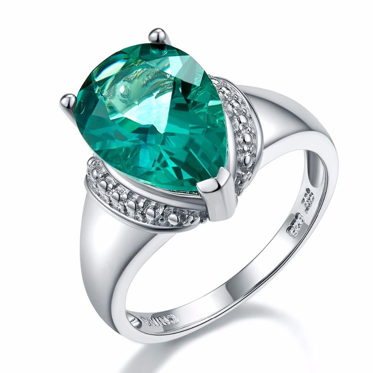 Rings For Women Vintage Engagement 925 Sterling Silver Bridal Jewelry Anniversary Wedding Green Fluorite Accessories