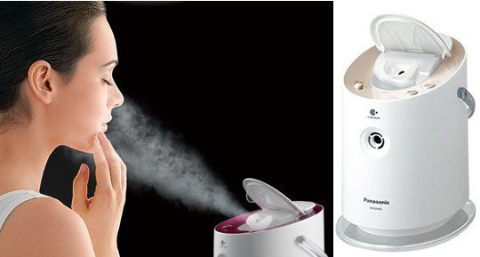 $423 Panasonic Nano Care Night Beauty Face Steamer- Keeps hair and Skin Moisturized. That looks like it feels soooo goood!