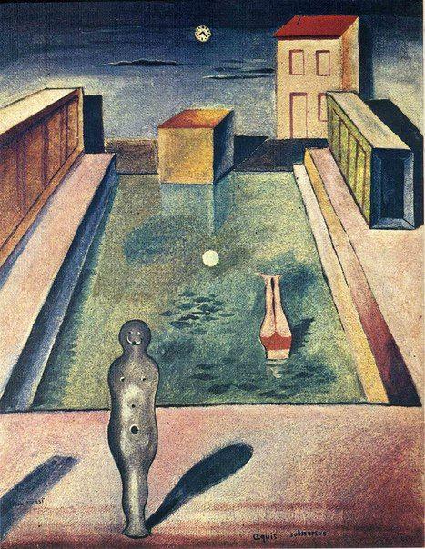 Макс Эрнст «Погруженная в воды» (1919)